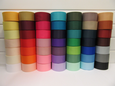 50mm Grosgrain Ribbon 2 metres or 20 metre roll double sided Ribbed